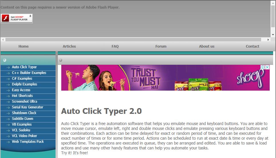 Auto Click Typer